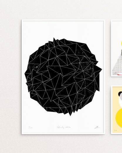 Pointy#02 screen print by Zé Monteiro